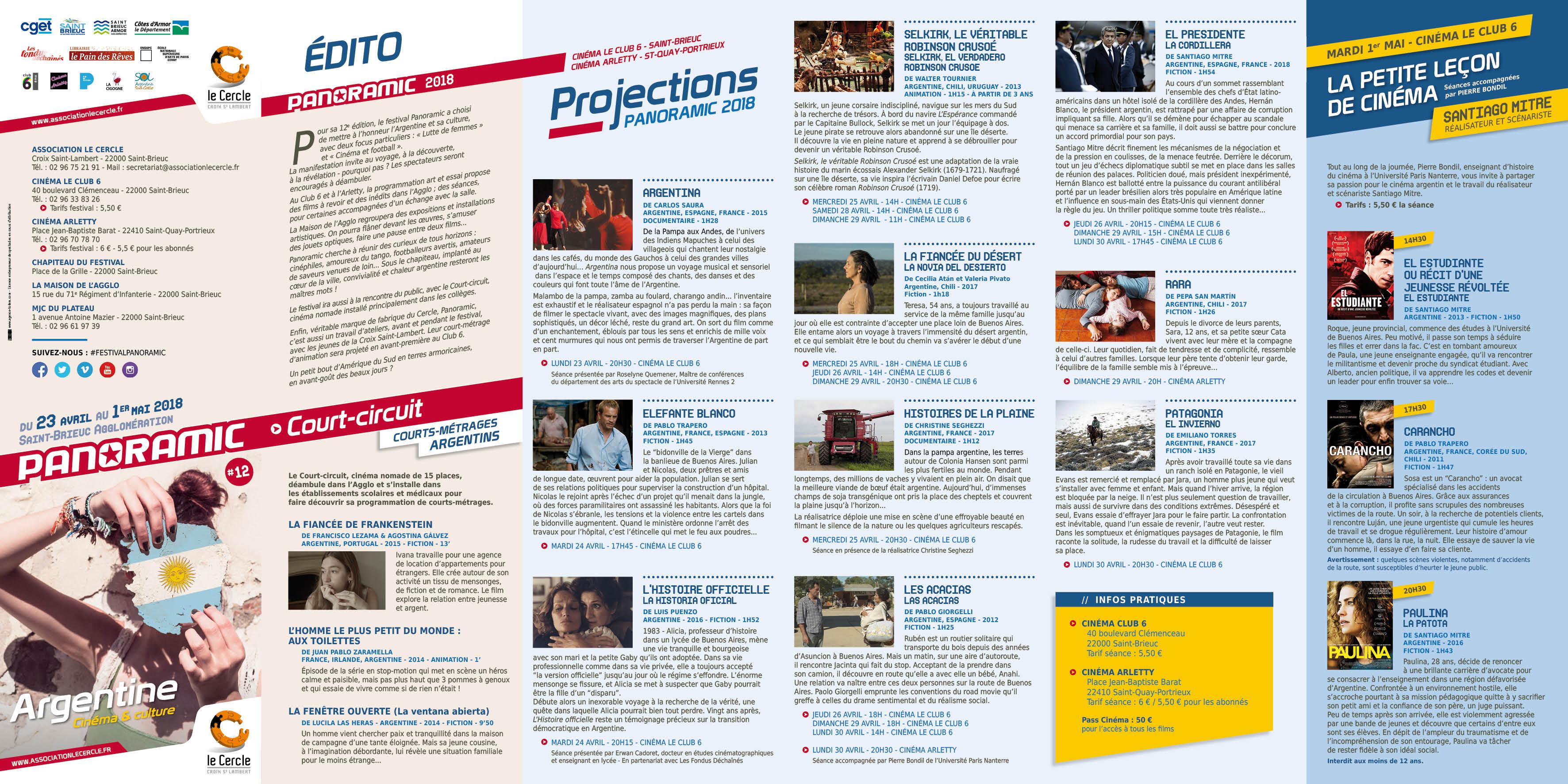 programme du festival de cinéma panoramic